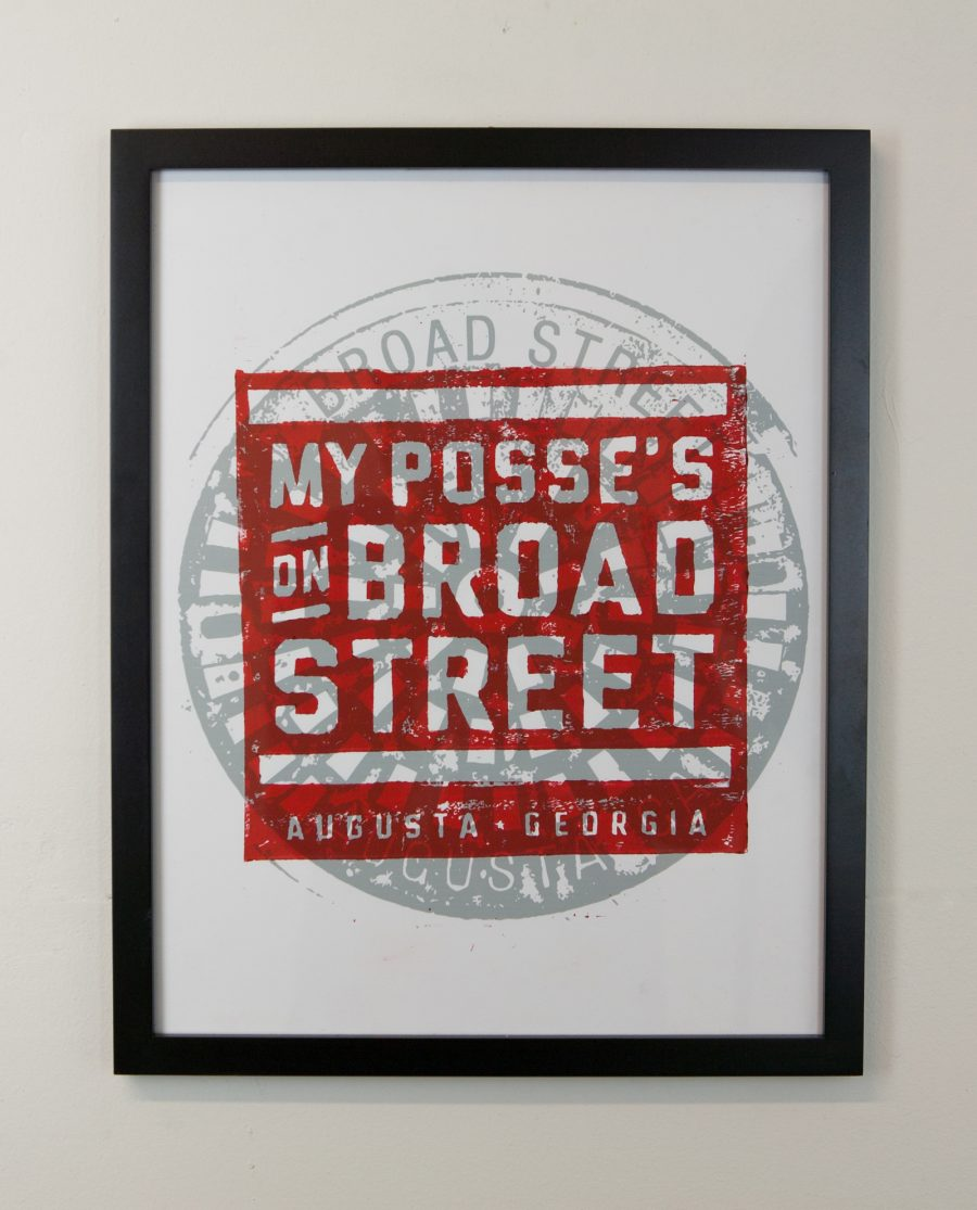 Framed Posse on Broad Street print