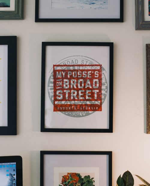 Framed Posse on Broad Street print