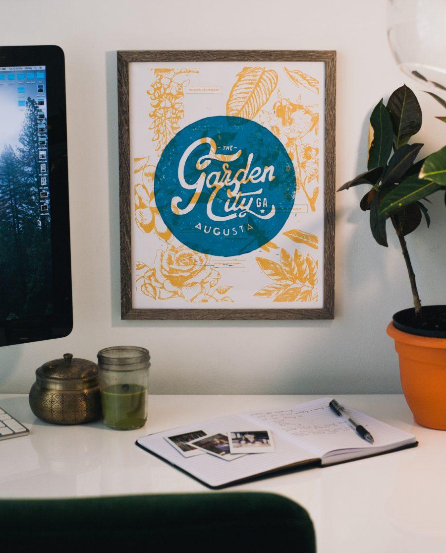 Framed Garden City print