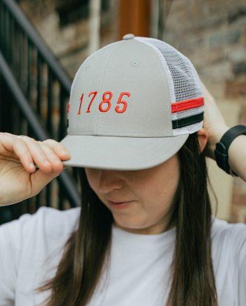 EST 1785 | Athens, Georgia Steel Trucker Hat with Stripes