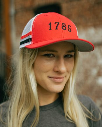 EST 1785 | Athens, Georgia Red Trucker Hat with Stripes