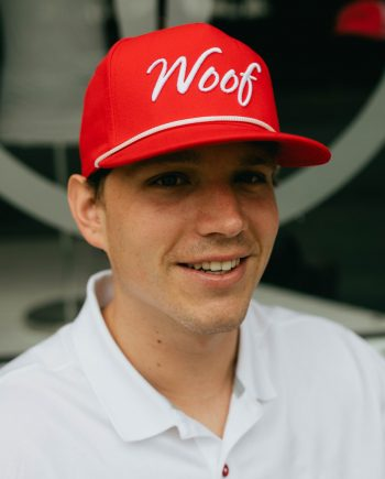 Woof | Athens, Georgia Red Old School Roper Hat