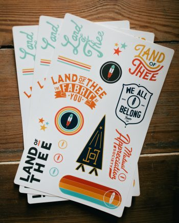Land of Thee Stickers